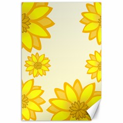 Sunflowers Flower Floral Yellow Canvas 24  X 36  by Mariart