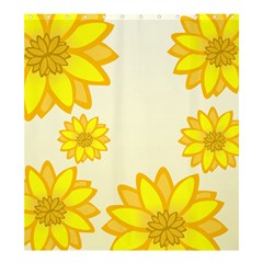 Sunflowers Flower Floral Yellow Shower Curtain 66  X 72  (large)  by Mariart