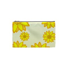 Sunflowers Flower Floral Yellow Cosmetic Bag (small)  by Mariart