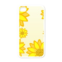 Sunflowers Flower Floral Yellow Apple Iphone 4 Case (white) by Mariart