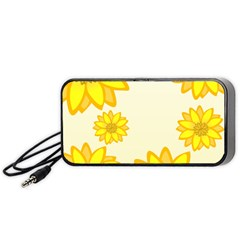 Sunflowers Flower Floral Yellow Portable Speaker (black) by Mariart