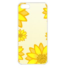 Sunflowers Flower Floral Yellow Apple Iphone 5 Seamless Case (white) by Mariart