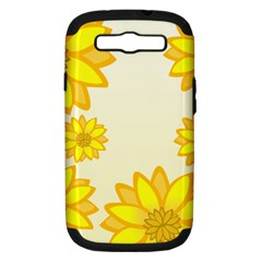 Sunflowers Flower Floral Yellow Samsung Galaxy S Iii Hardshell Case (pc+silicone) by Mariart