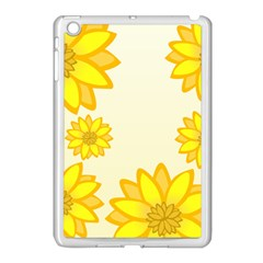 Sunflowers Flower Floral Yellow Apple Ipad Mini Case (white) by Mariart