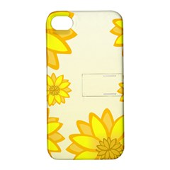 Sunflowers Flower Floral Yellow Apple Iphone 4/4s Hardshell Case With Stand by Mariart