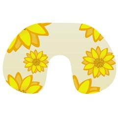 Sunflowers Flower Floral Yellow Travel Neck Pillows