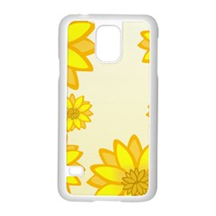Sunflowers Flower Floral Yellow Samsung Galaxy S5 Case (white)