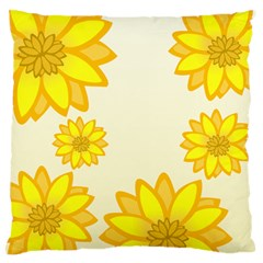 Sunflowers Flower Floral Yellow Standard Flano Cushion Case (one Side) by Mariart