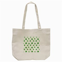 Leaf Green White Tote Bag (cream) by Mariart