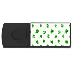 Leaf Green White Usb Flash Drive Rectangular (4 Gb) by Mariart