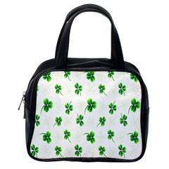 Leaf Green White Classic Handbags (one Side) by Mariart