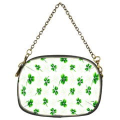 Leaf Green White Chain Purses (two Sides)  by Mariart