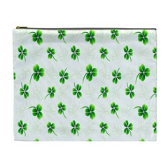 Leaf Green White Cosmetic Bag (XL)