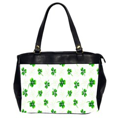 Leaf Green White Office Handbags (2 Sides)  by Mariart