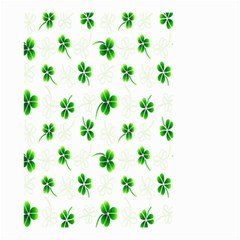 Leaf Green White Small Garden Flag (two Sides) by Mariart