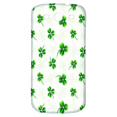 Leaf Green White Samsung Galaxy S3 S Iii Classic Hardshell Back Case by Mariart