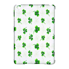 Leaf Green White Apple Ipad Mini Hardshell Case (compatible With Smart Cover) by Mariart