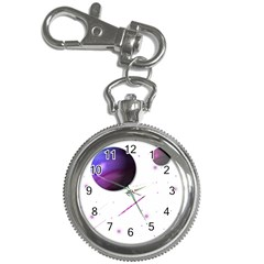 Space Transparent Purple Moon Star Key Chain Watches by Mariart