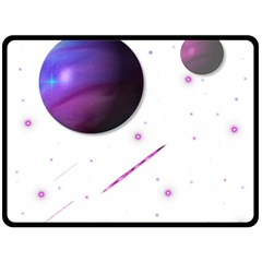 Space Transparent Purple Moon Star Fleece Blanket (large)  by Mariart
