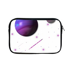 Space Transparent Purple Moon Star Apple Ipad Mini Zipper Cases by Mariart