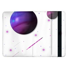 Space Transparent Purple Moon Star Samsung Galaxy Tab Pro 12 2  Flip Case by Mariart