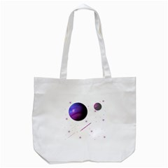 Space Transparent Purple Moon Star Tote Bag (white) by Mariart