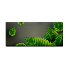 Leaf Green Grey Cosmetic Storage Cases by Mariart