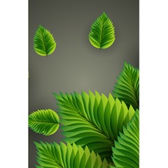 Leaf Green Grey 5 5  X 8 5  Notebooks by Mariart