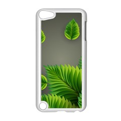 Leaf Green Grey Apple Ipod Touch 5 Case (white) by Mariart