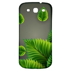 Leaf Green Grey Samsung Galaxy S3 S Iii Classic Hardshell Back Case by Mariart