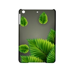 Leaf Green Grey Ipad Mini 2 Hardshell Cases by Mariart