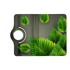 Leaf Green Grey Kindle Fire Hd (2013) Flip 360 Case by Mariart