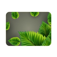 Leaf Green Grey Double Sided Flano Blanket (mini)  by Mariart
