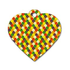 Flower Floral Sunflower Color Rainbow Yellow Purple Red Green Dog Tag Heart (two Sides) by Mariart