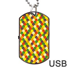 Flower Floral Sunflower Color Rainbow Yellow Purple Red Green Dog Tag Usb Flash (two Sides) by Mariart