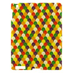 Flower Floral Sunflower Color Rainbow Yellow Purple Red Green Apple Ipad 3/4 Hardshell Case by Mariart