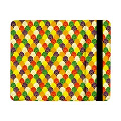 Flower Floral Sunflower Color Rainbow Yellow Purple Red Green Samsung Galaxy Tab Pro 8 4  Flip Case by Mariart