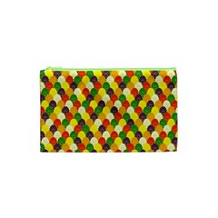 Flower Floral Sunflower Color Rainbow Yellow Purple Red Green Cosmetic Bag (xs) by Mariart