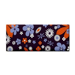 Bright Colorful Busy Large Retro Floral Flowers Pattern Wallpaper Background Cosmetic Storage Cases