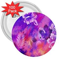 Littie Birdie Abstract Design Artwork 3  Buttons (100 Pack)