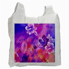 Littie Birdie Abstract Design Artwork Recycle Bag (two Side)  by Nexatart