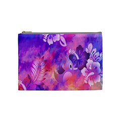 Littie Birdie Abstract Design Artwork Cosmetic Bag (medium)  by Nexatart