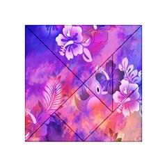 Littie Birdie Abstract Design Artwork Acrylic Tangram Puzzle (4  X 4 )