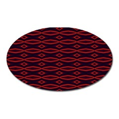 Repeated Tapestry Pattern Abstract Repetition Oval Magnet by Nexatart
