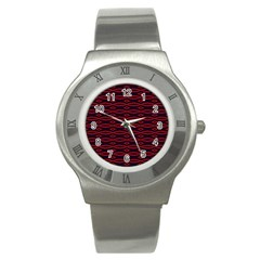Repeated Tapestry Pattern Abstract Repetition Stainless Steel Watch by Nexatart
