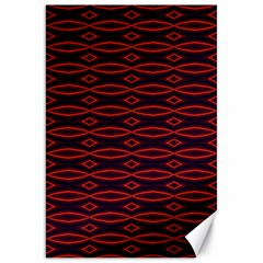 Repeated Tapestry Pattern Abstract Repetition Canvas 20  X 30   by Nexatart
