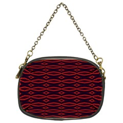 Repeated Tapestry Pattern Abstract Repetition Chain Purses (two Sides)