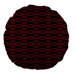 Repeated Tapestry Pattern Abstract Repetition Large 18  Premium Round Cushions