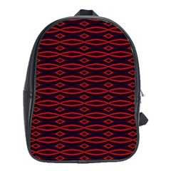 Repeated Tapestry Pattern Abstract Repetition School Bags (xl)