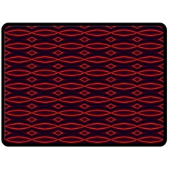 Repeated Tapestry Pattern Abstract Repetition Double Sided Fleece Blanket (large)